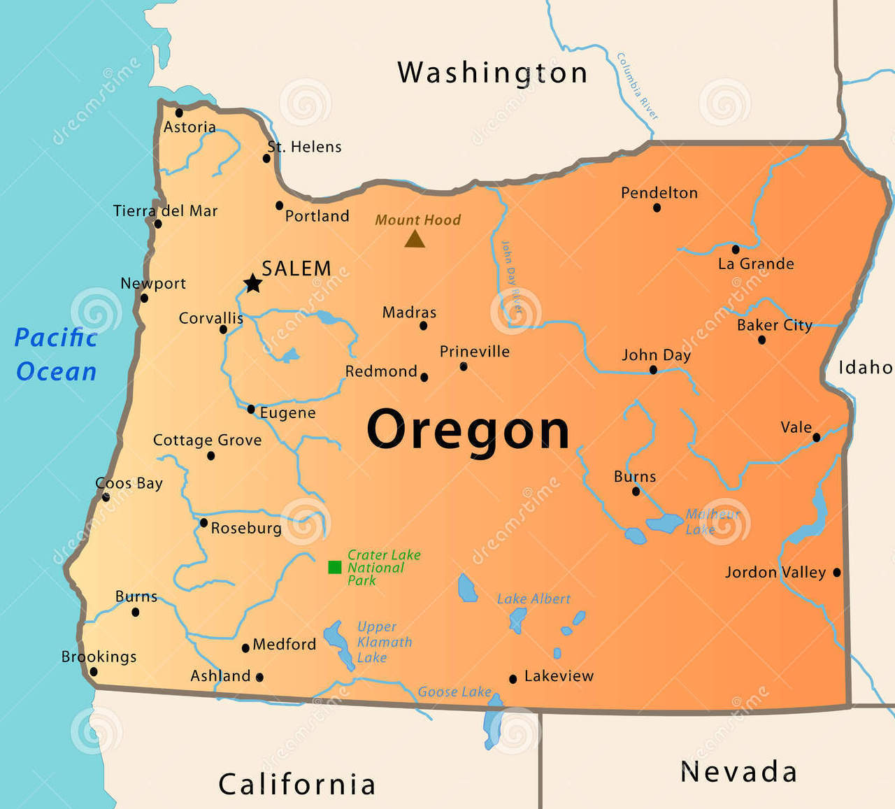 Oregon carte